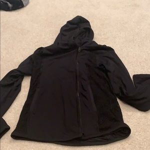 Black soandex/polyester zip up